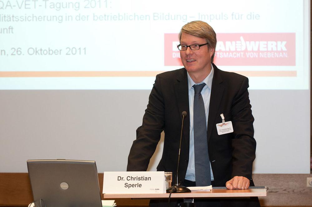 Dr. Christian Sperle, ZDH, Berlin