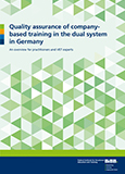 Quality assurance of in-company training in the dual system in Germany